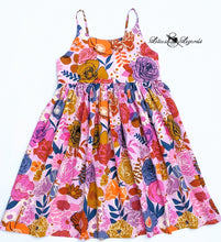 Load image into Gallery viewer, Bold Blooms Summer Dress, Size 12