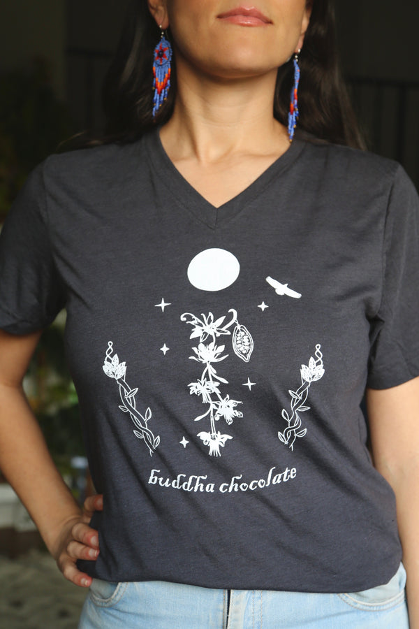 Buddha Chocolate Tee - Charcoal
