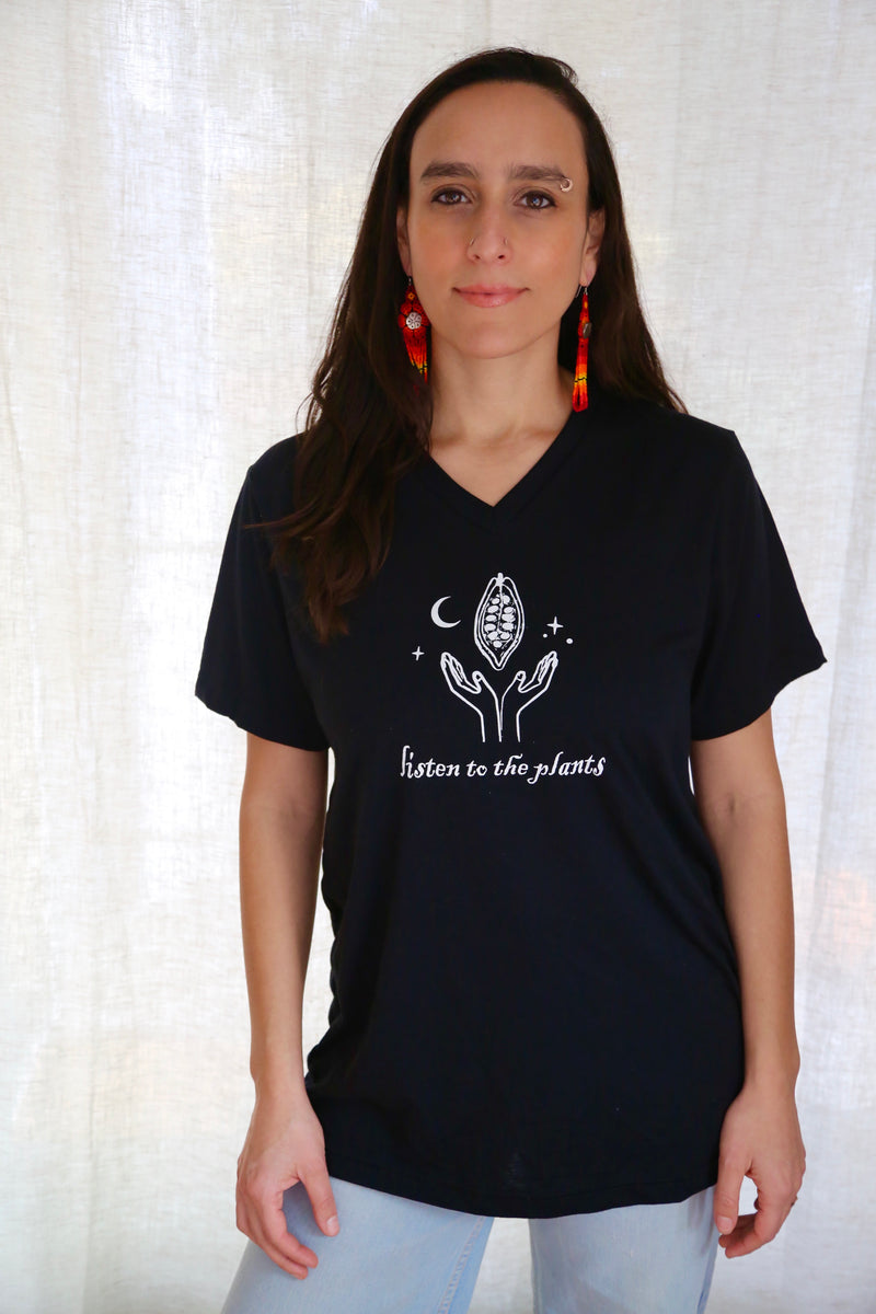 Cacao Mamma - Listen to the Plants Tee