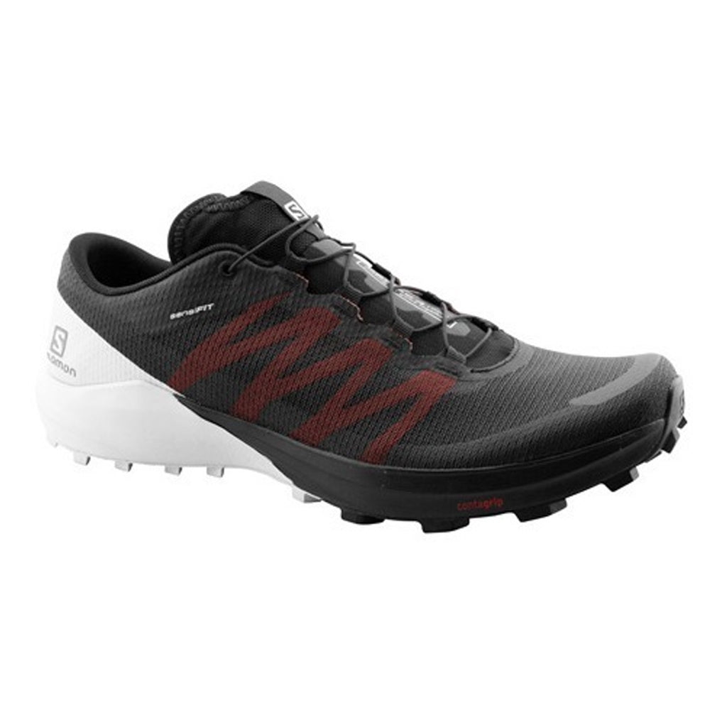 Mens Salomon Sense Pro 4 - Black / White / Cherry Tomato