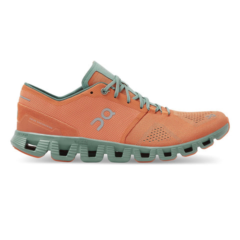 Mens On Cloud X - Orange / Sea