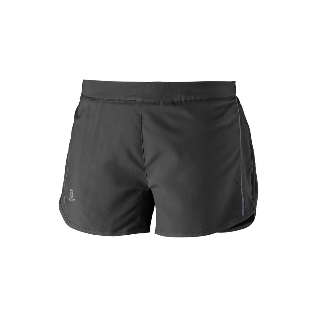WOMENS SALOMON AGILE SHORT - BLACK