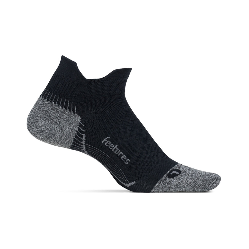 Feetures Plantar Fasciitis Relief Compression Sock - No Show - Black