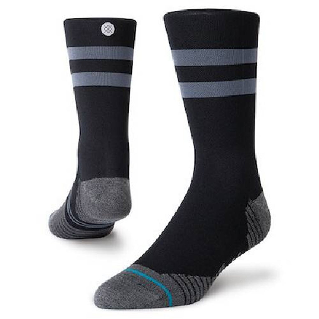 Unisex Stance Run Light Crew Sock - Black