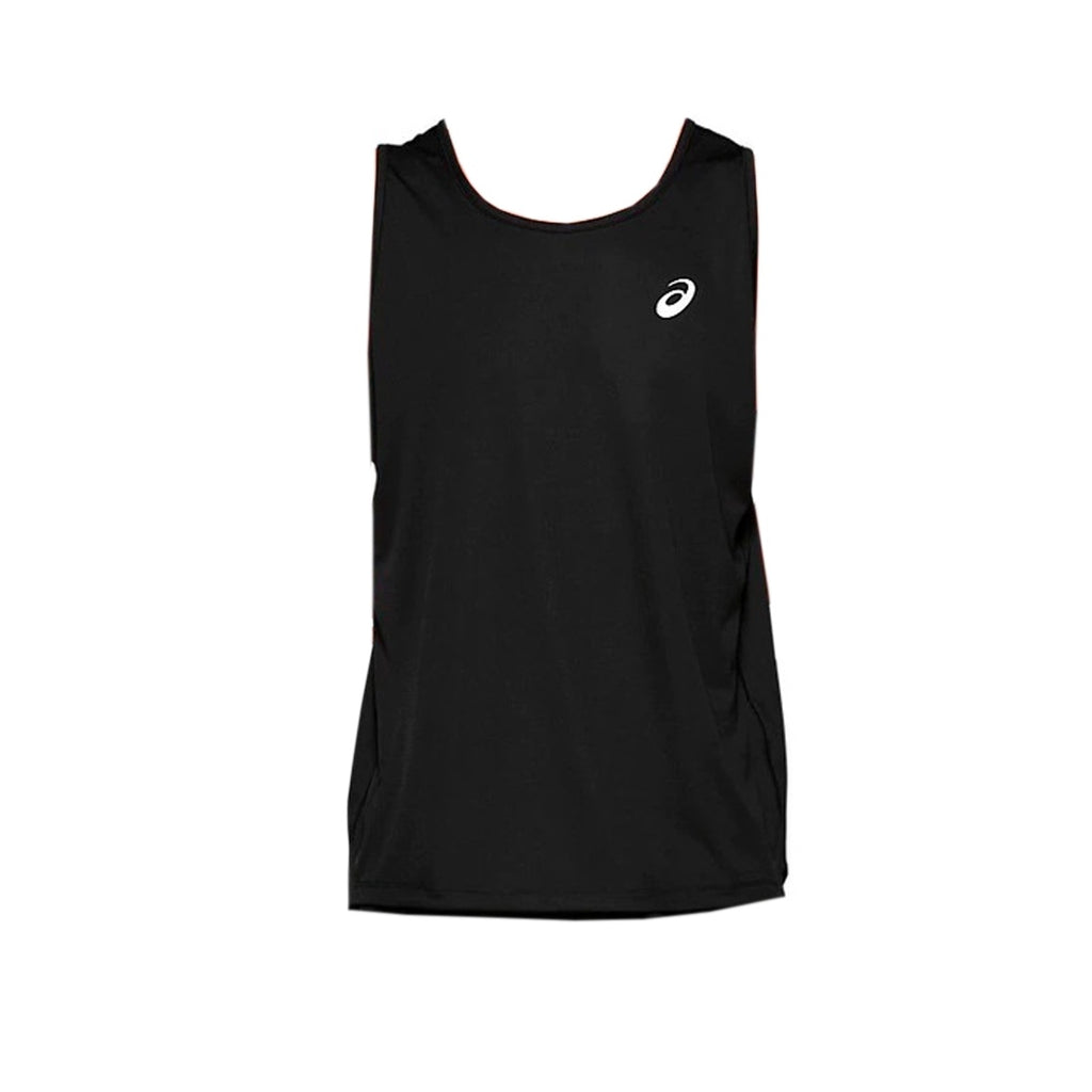 Mens Asics Silver Singlet - Performance Black