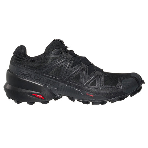 Womens Salomon Speedcross 5 - Black / Black / Phantom
