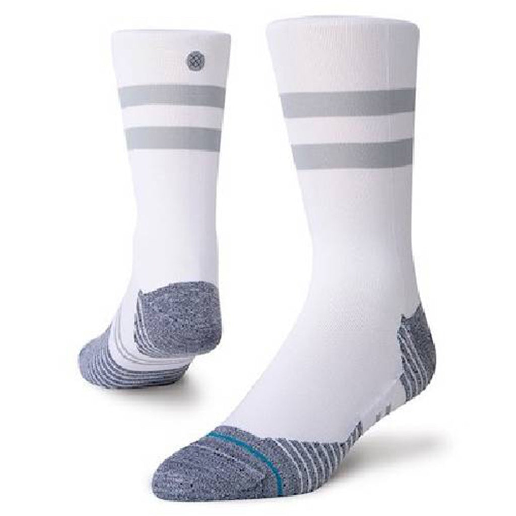 Unisex Stance Run Light Crew Sock - White