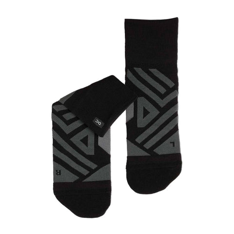 Mens ON Running Mid Sock - Black / Shadow
