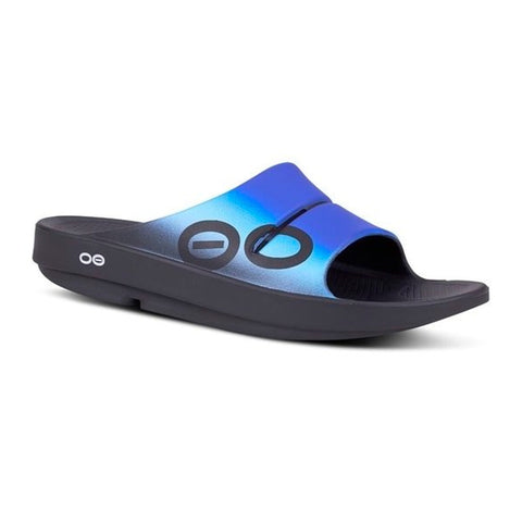 Oofos Ooahh Sport Slides - Navy / Royal