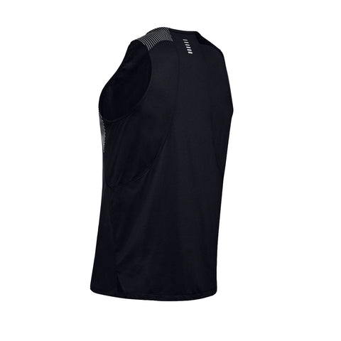 Mens Under Armour Qualifier Iso-Chill Run Singlet - Black
