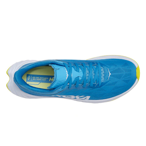 Mens Hoka Carbon X 2 - Diva Blue / Citrus