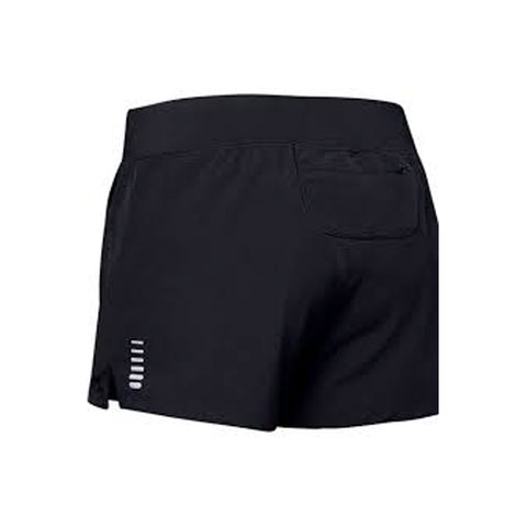 Womens Under Amour Qualifier Speedpocket Short - Black