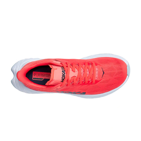 Womens Hoka Carbon X 2  - Hot Coral / Black Iris