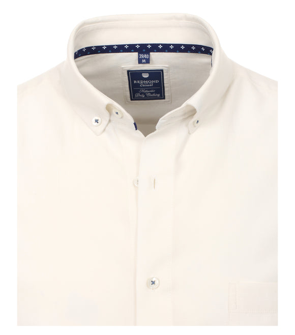 Redmond Hemd, regular fit, 100% Baumwolle, garment washed, weiß