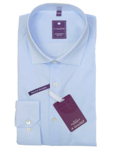 Redmond Businesshemd, slim fit, 100% Baumwolle, natural stretch, hellblau