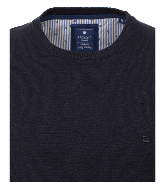 Redmond Pullover, regular fit, round neck, 100% Baumwolle, anthrazit