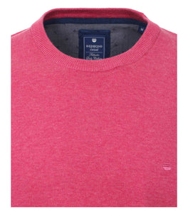 Redmond Pullover, regular fit, round neck, 100% Baumwolle, rosa