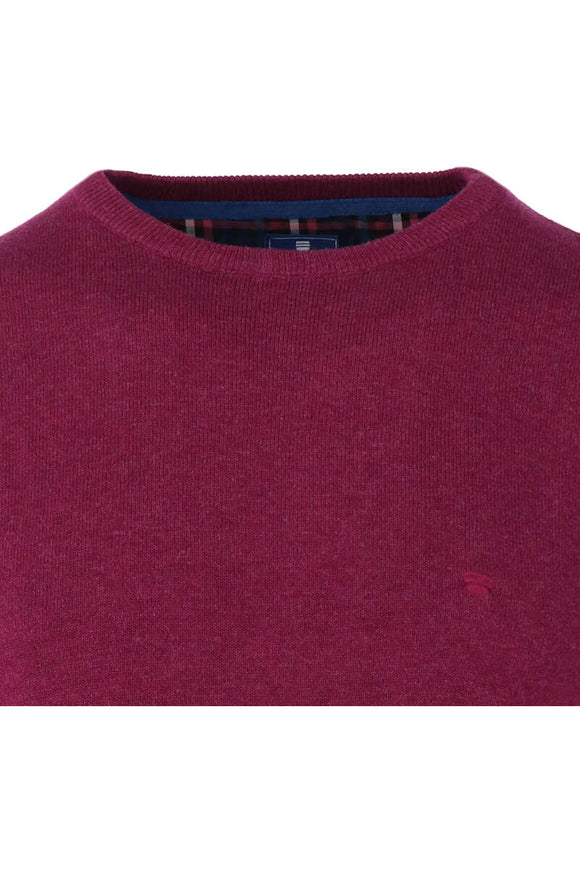 Redmond Pullover, regular fit, round neck, 100% Baumwolle, lila
