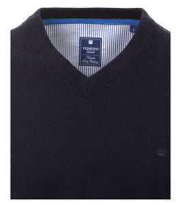 Redmond Pullunder, regular fit, V-neck, 100% Baumwolle, marineblau
