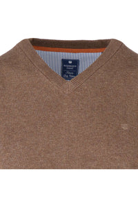 Redmond Pullover, regular fit, V-neck, 100% Baumwolle, pfeffer