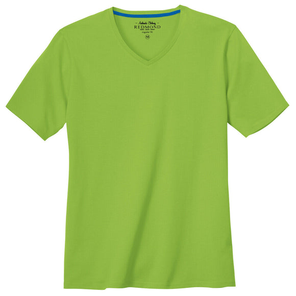 Redmond T-Shirt, regular fit, V-neck, 100% Baumwolle, grün