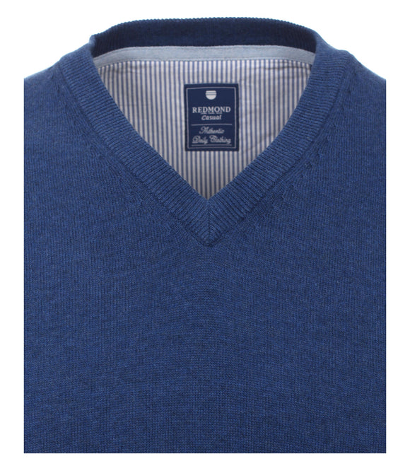 Redmond Pullunder, regular fit, V-neck, 100% Baumwolle, jeansblau