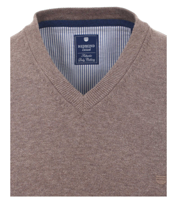 Redmond Pullunder, regular fit, V-neck, 100% Baumwolle, pfeffer