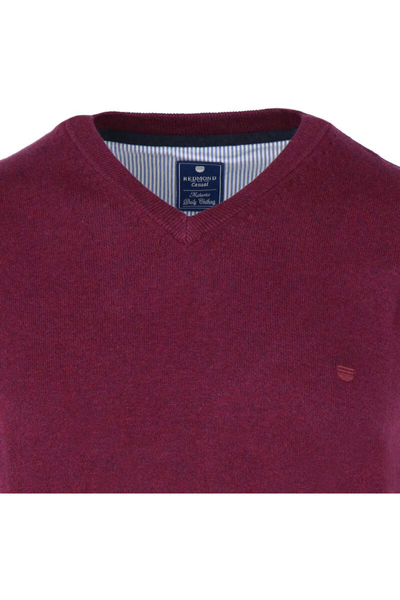 Redmond Pullunder, regular fit, V-neck, 100% Baumwolle, rot
