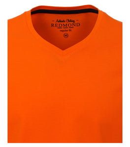 Redmond T-Shirt, regular fit, V-neck, 100% Baumwolle, orange