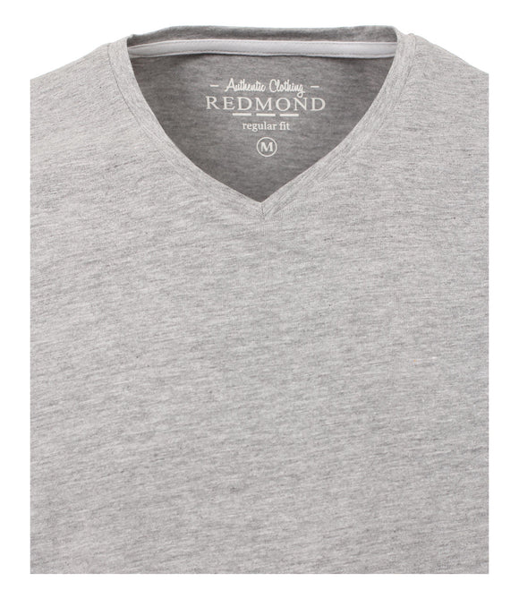 Redmond T-Shirt, regular fit, V-neck, hellgrau