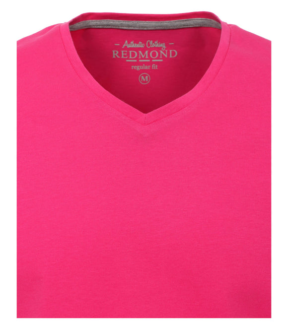 Redmond T-Shirt, regular fit, V-neck, 100% Baumwolle, pink