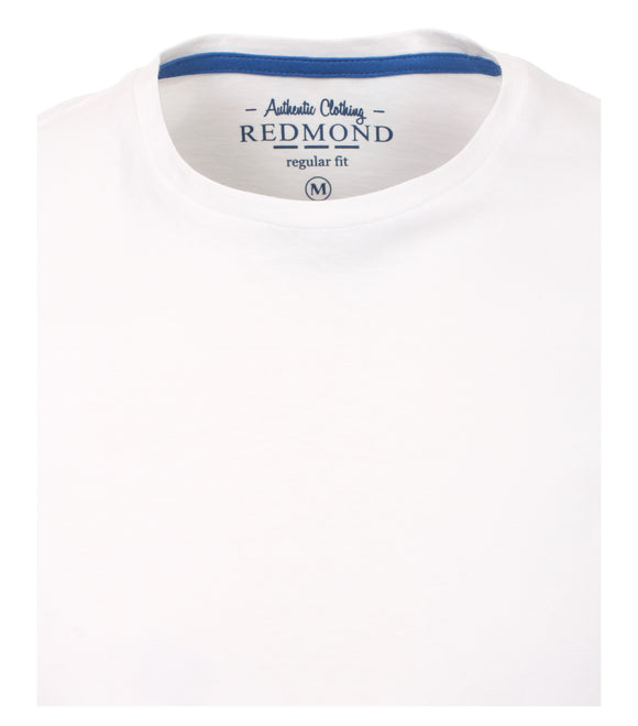 Redmond T-Shirt, regular fit, round-neck, 100% Baumwolle, weiß