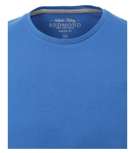 Redmond T-Shirt, regular fit, round-neck, 100% Baumwolle, azurblau