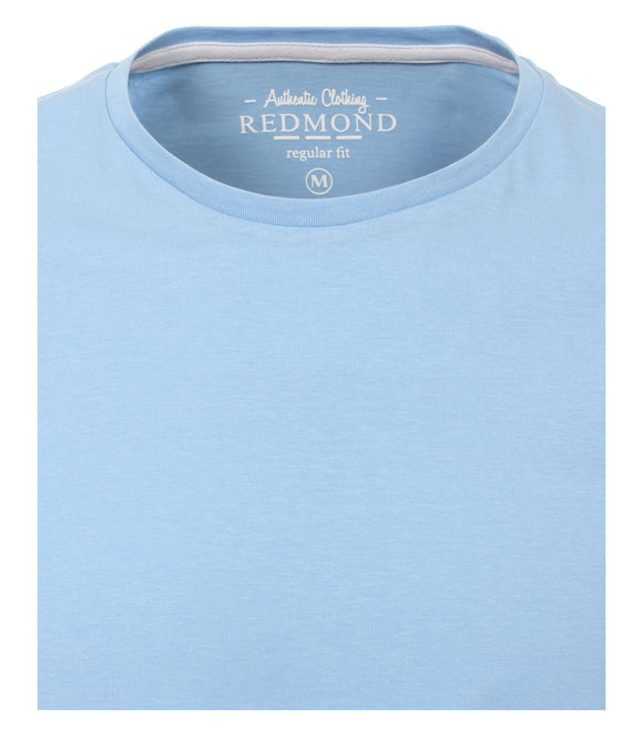 Redmond T-Shirt, regular fit, round-neck, 100% Baumwolle, hellblau