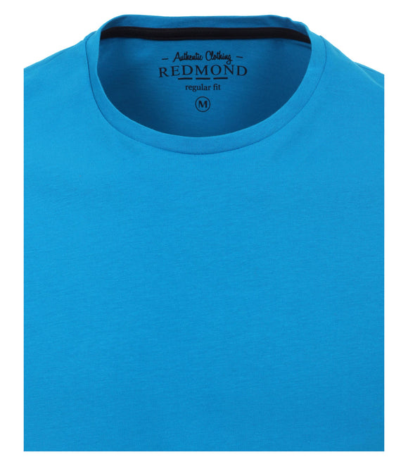 Redmond T-Shirt, regular fit, round-neck, 100% Baumwolle, türkis