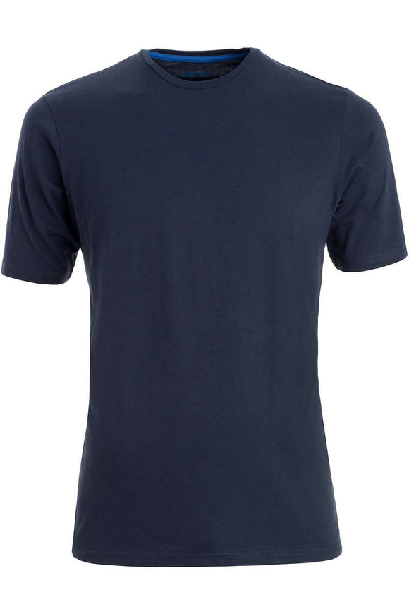 Redmond T-Shirt, regular fit, round-neck, 100% Baumwolle, marineblau