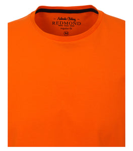 Redmond T-Shirt, regular fit, round-neck, 100% Baumwolle, orange