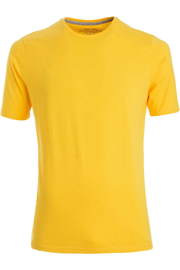 Redmond T-Shirt, regular fit, round-neck, 100% Baumwolle, gelb