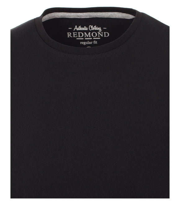 Redmond T-Shirt, regular fit, round-neck, 100% Baumwolle, schwarz