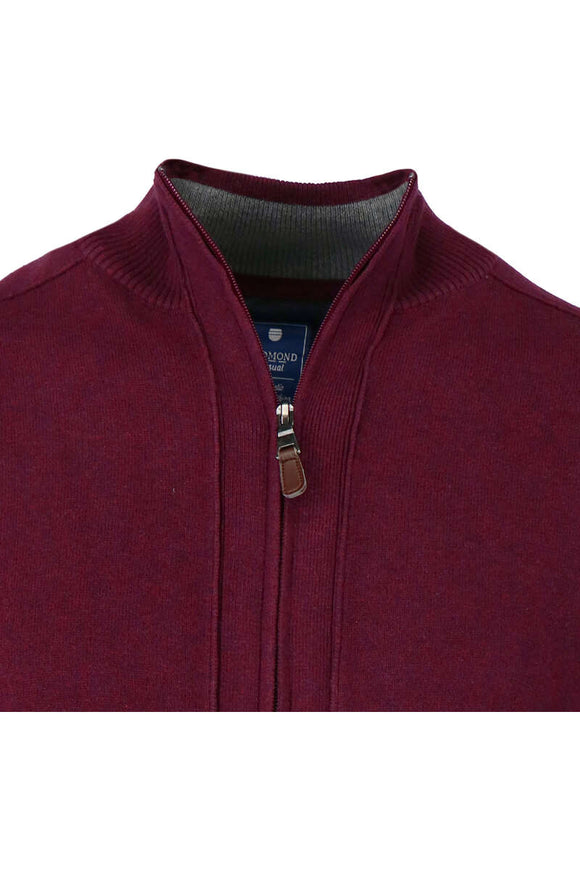Redmond Cardigan mit Zipper, regular fit, 100% Baumwolle, fuchsia