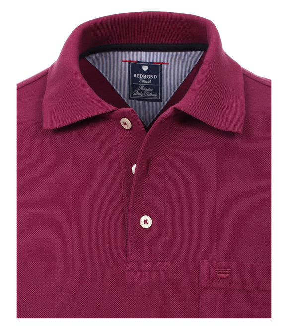 Redmond Poloshirt, regular fit, 100% Baumwolle-piqué, bordeaux
