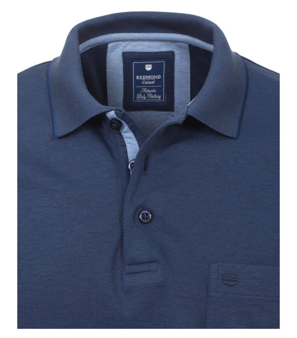 Redmond Poloshirt, regular fit, wash & wear, marineblau