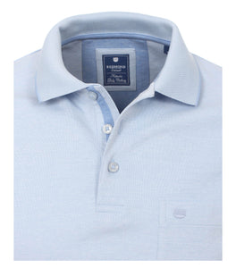 Redmond Poloshirt, regular fit, wash & wear, hellblau
