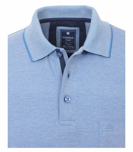 Redmond Poloshirt, regular fit, wash & wear, azurblau