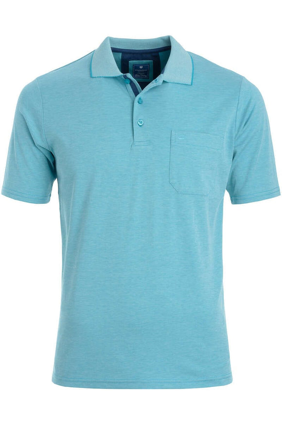 Redmond Poloshirt, regular fit, wash & wear, türkis