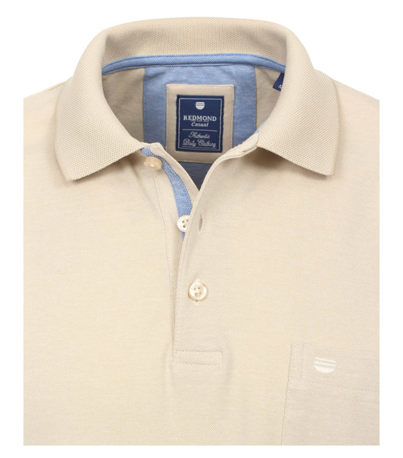 Redmond Poloshirt, regular fit, wash & wear, sand