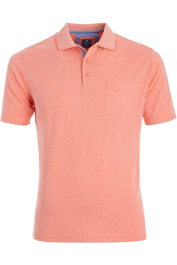 Redmond Poloshirt, regular fit, wash & wear, orange