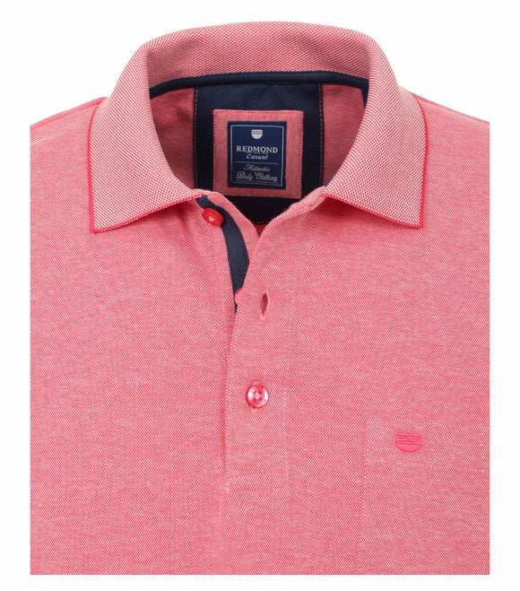 Redmond Poloshirt, regular fit, wash & wear, rosa