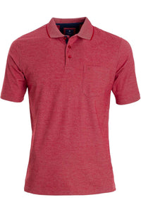 Redmond Poloshirt, regular fit, wash & wear, rot