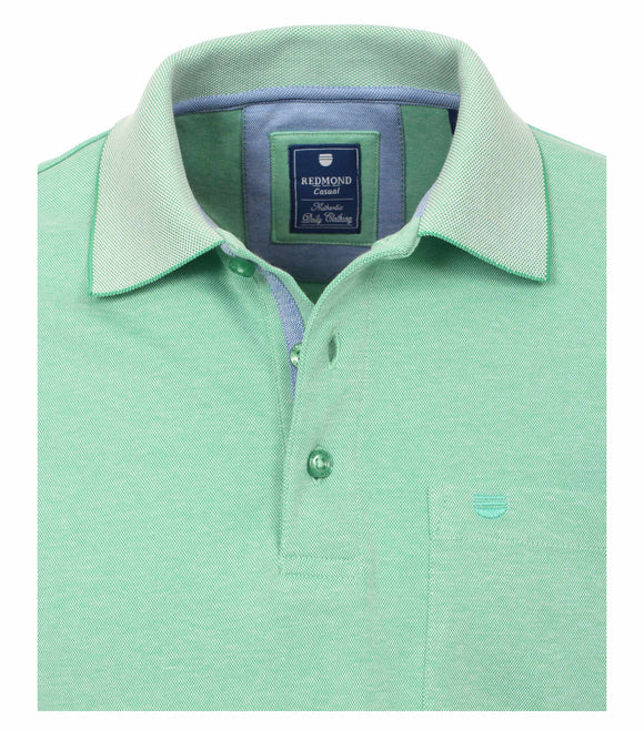 Redmond Poloshirt, regular fit, wash & wear, grün